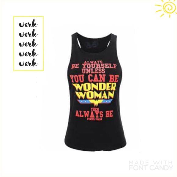 4fd344404c26b Plus size Wonder woman workout tank black