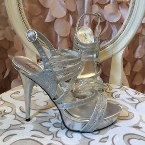 Night Moves Shoes - Silver heels