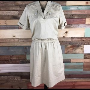 Brooks Brothers Tan Khaki Utility Style Dress - 10