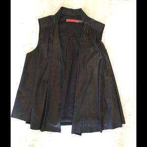 Alice + Olivia Jackets & Blazers - Alice and Olivia Black Leather Vest