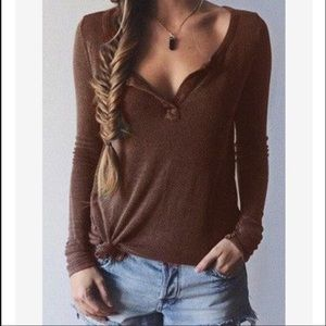 Tops - Brown T shirt