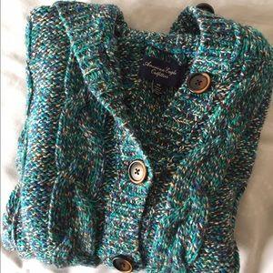Chunky Sweater Knit Poncho/Cardigan