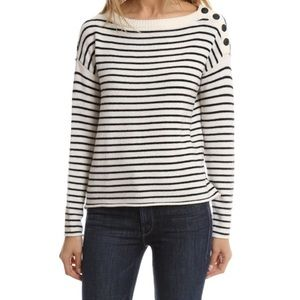 ATM Anthony Thomas Melillo Sweaters - ATM striped button shoulder sweater