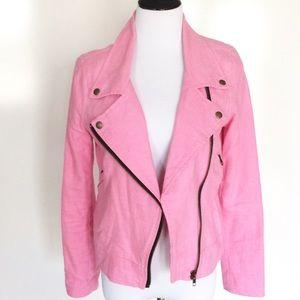 Sanctuary Jackets & Blazers - Sanctuary Pink Moto Jacket