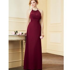 Alfred Angelo Dresses & Skirts - Alfred Angelo Chiffon Halter Maxi Dress Size 2