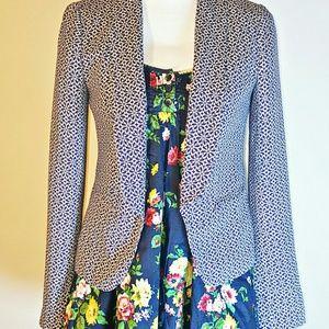 ⬇️️LOFT Blue & White Floral Print Blazer/Jacket
