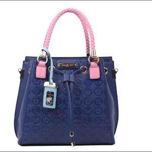 Nicole Lee Handbags - 🆕 NAVY & PINK SHOULDER BAG