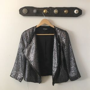 Sequin Distressed Express Jacket