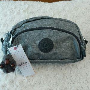 Kipling  Handbags - Kipling NWT Caleen Silver Glimmer Pouch