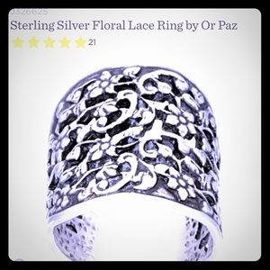 or paz Jewelry - Or Paz Lace Ring Size 7