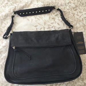 Leather Shoulder Bag by Zara
