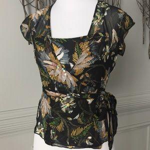 Diane von Furstenberg Tops - DVF- Silk wrap shirt w/ matching camisole.
