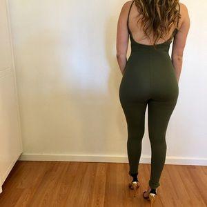 •new• Chloe Fatigue Green Cami Jumpsuit