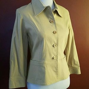Harve Benard Jackets & Blazers - harve benard khaki jacket