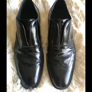 Stacy Adams Other - Stacy Adams Oxford Slip On Black Dress Shoes, 10.5