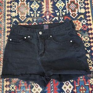 Vintage black high waisted shorts