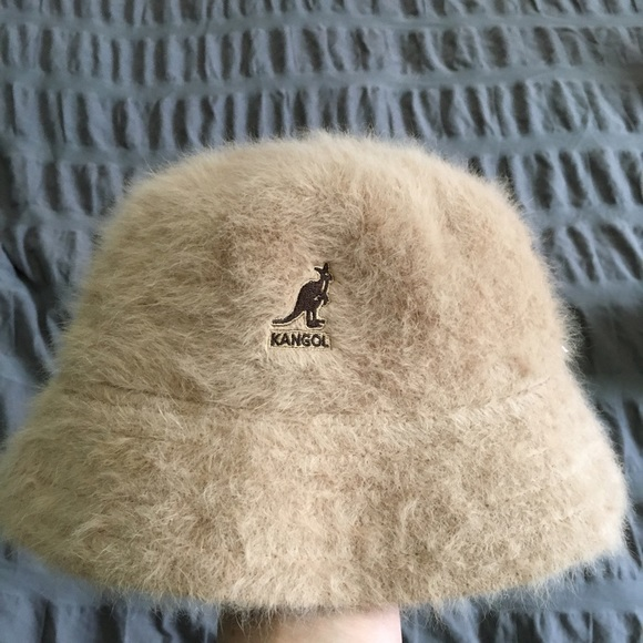 7dd89500bbdd1 Kangol Accessories - Kangol tan furry bucket hat.