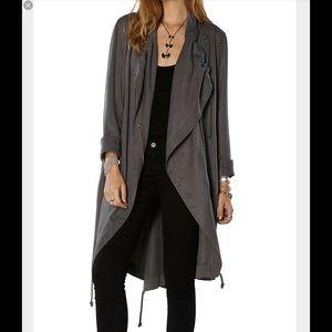 #236 bb dakota draped tencel coat in gray