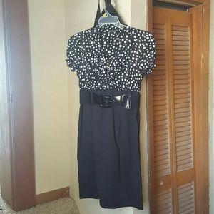 ALYX Dresses & Skirts - ALYX Polka-dot and Black Belted Dress