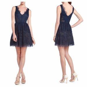 BCBG MaxAzria Willa Lace Dress Blue