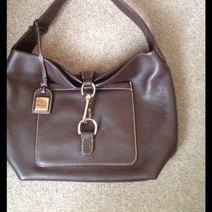 Dooney & Bourke Handbags - Dooney & Bourke Annalisa Brown Leather Hobo Purse