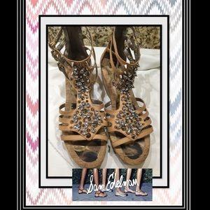 3d448ec2ae0a Sam Edelman Shoes - Sam Edelman Nell Strappy Cork Wedge Sandals 91 2M