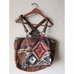 Scully Handbags - Aztec embroidered bag