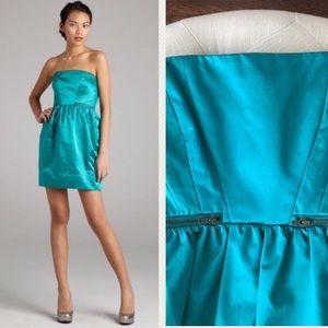 Shoshanna Dresses & Skirts - NWT Shoshanna Peacock Teal Strapless Dress size 6
