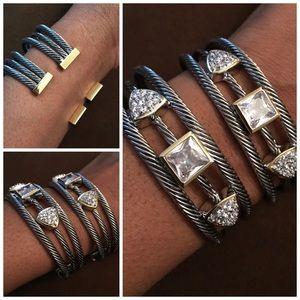 Jewelry - 🌸HP🌸 Confetti  Cable Wire Cuff