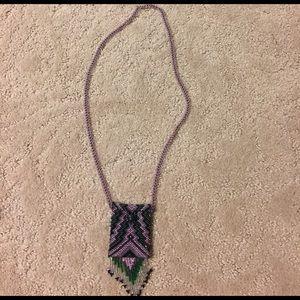 Beaded necklace pouch