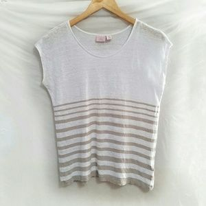 St. Tropez Tops - St. Tropez West striped linen tee