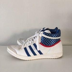 Retro adidas high top sneakers