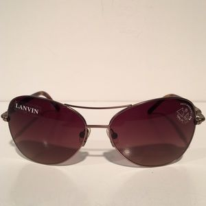 Lanvin Accessories - Lanvin Brown Aviator Sunglasses