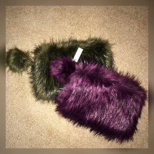 Handbags - 🌸2XHP🌸 Faux Fur Clutches