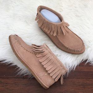 Splendid Shoes - Splendid Moccasin Fringe Ankle Bootie
