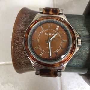 Geneva Platinum Accessories - Geneva Tortoise Shell ⌚️ Watch
