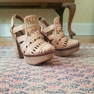 Miista Shoes - MIISTA Leather laser cut Platforms 8.5 or 39