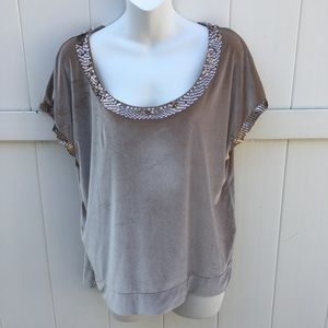 HollyHock By Lucky Brand Gold Top Size M