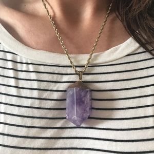 Jewelry - Big amethyst point necklace