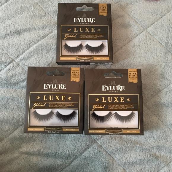 0e5723bd7b2 Makeup | 330 Eylure Mink Luxe Gilded Eyelashes | Poshmark