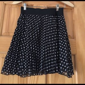 Ultra Flirt Dresses & Skirts - Black polka dot skirt