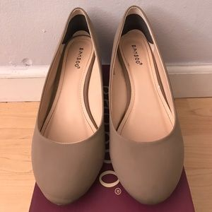 Bamboo Shoes - Taupe Wedges