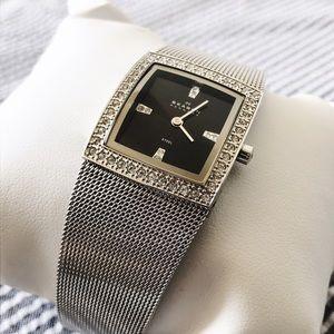 Skagen Accessories - SKAGEN Stainless Steel Watch w/ Swarovski Crystals