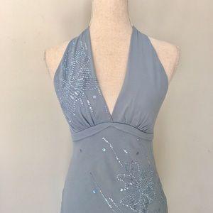 BCBGMaxAzria▪️Silk Halter Dress