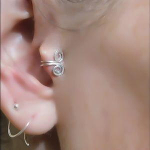 Clip on Tragus Cuff - Silver, Gold, or Rose Gold