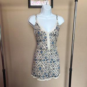 ASTR Pants - NWT ASTR V-Neck Floral Crochet Romper