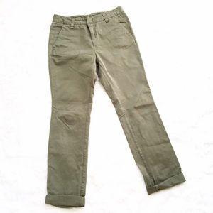 rag & bone Pants - Rag & Bone Green Straight Leg 100% Cotton Chinos