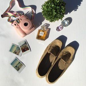 Salvatore Ferragamo tan sport loafers