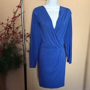 Haute Hippie Dresses & Skirts - NWT Haute Hippie Cobalt Blue Wrap Dress