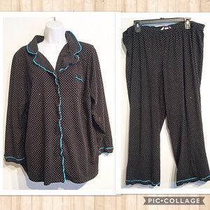 Cacique Other - Cacique Plus Size Glitter Polka Dot Pajama Set